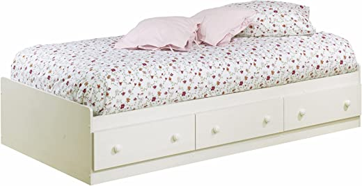 B005OL2L02✅Summer Breeze Collection Twin Bed with Storage – Platform Bed with 3 Drawers – White Wash by South Shore