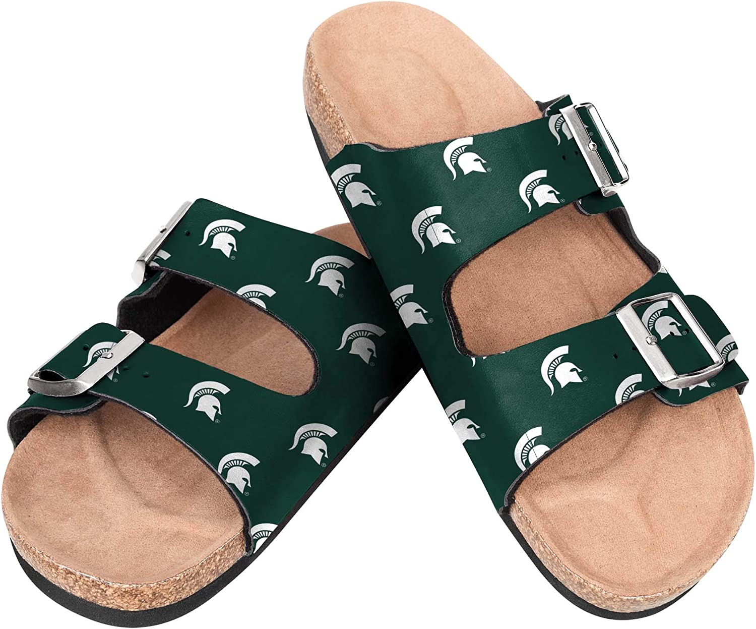 Michigan State Spartans NCAA Womens Double Logo Buckle Team Sand 2021 Cheap mail order sales