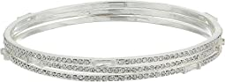 LAUREN Ralph Lauren Set of 3 Bangles with Pave & Baguettes Bracelets