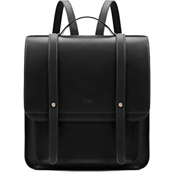 Black /& White Leather Straps Because F U Thats Why Vintage Rucksack Backpack