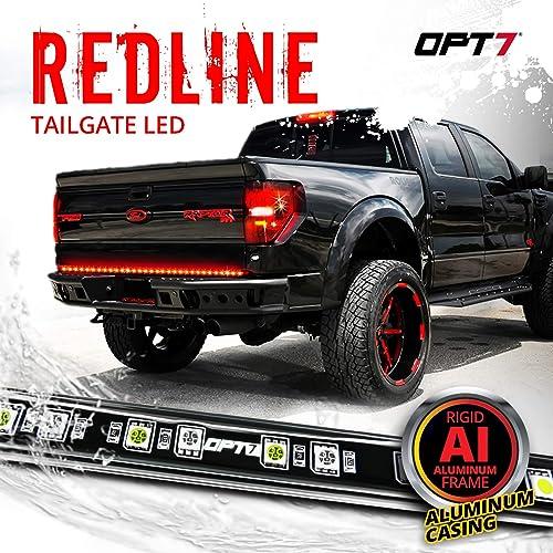 "OPT7 60"" Redline LED Tailgate Light Bar - TriCore LED - Weatherproof Rigid Aluminum No-Drill Install - Full Featured Reverse Running Brake Turn Signal - 2yr Warranty"