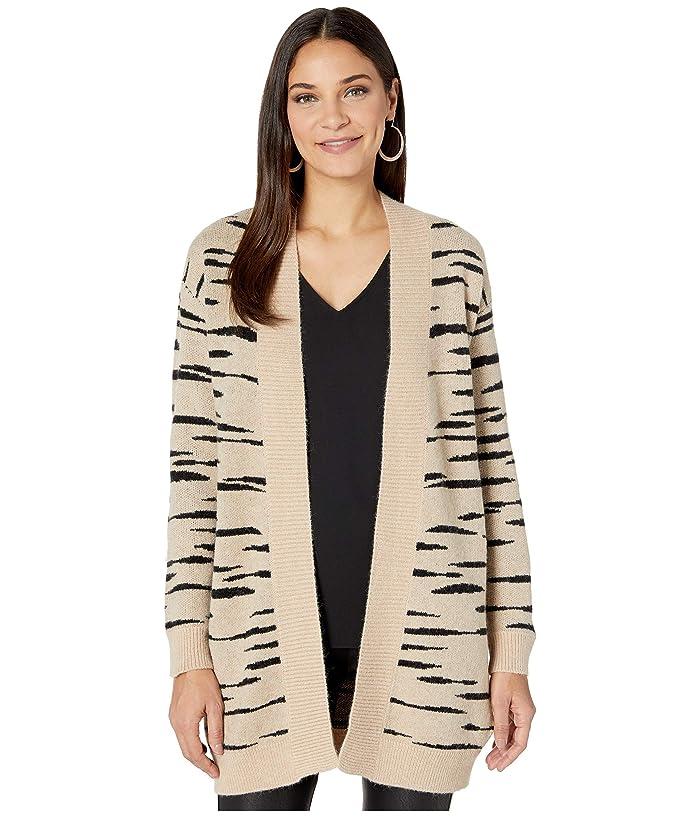 BB Dakota  Soft Safari Abstract Zebra Jacquard Cardigan (Light Camel) Womens Sweater