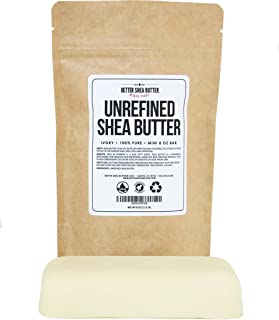 Unrefined Ivory Shea Butter - Raw, 100% Pure, from West Africa - Moisturizing for Dry, Cracked Skin and Eczema - Use on Body, Face and Hair and in DIY Skin Care Recipes - 8 oz by Better Shea Butter