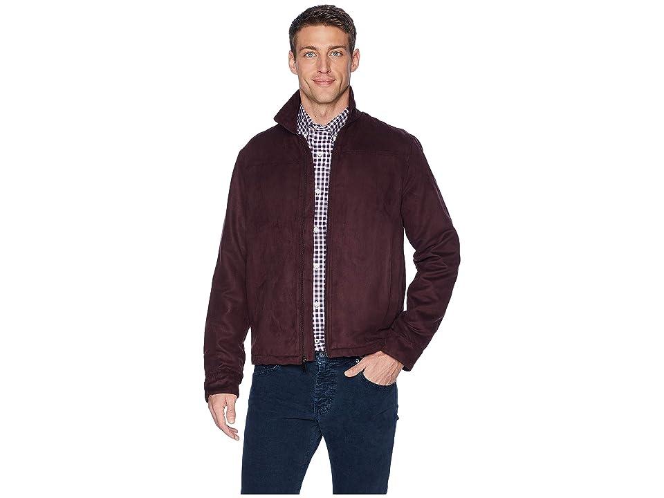 Perry Ellis Faux Suede Shirt Jacket (Port) Men