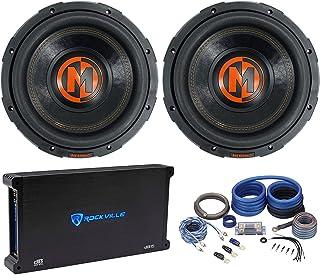 "$557 » (2) Memphis Audio MJP1022 10"" 1500 Watt MOJO Car Subwoofers Bundle with Rockville dB15 Mono 2 Ohm Amplifier Car Audio Amp..."