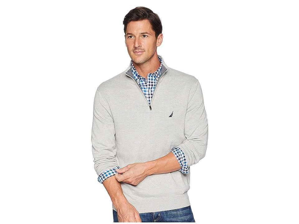 Nautica 12 Gauge 1/4 Zip Sweater (Grey Heather) Men