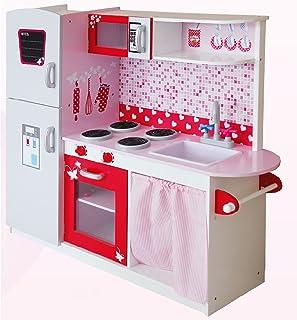comprar comparacion Leomark Grande y Brillante Royal Cocina Madera Infantil de Juguete - Color Pink - para Niños, Juego de Imitación Dim: 104x...