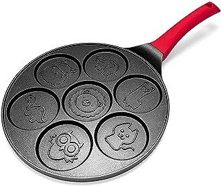 Professional Crepe Pan Pancake Omelet Pan Pannkaka tillverkare - Non-stick pannkaka Pan Griddle Grill Pan Crepe Maker 7- P...