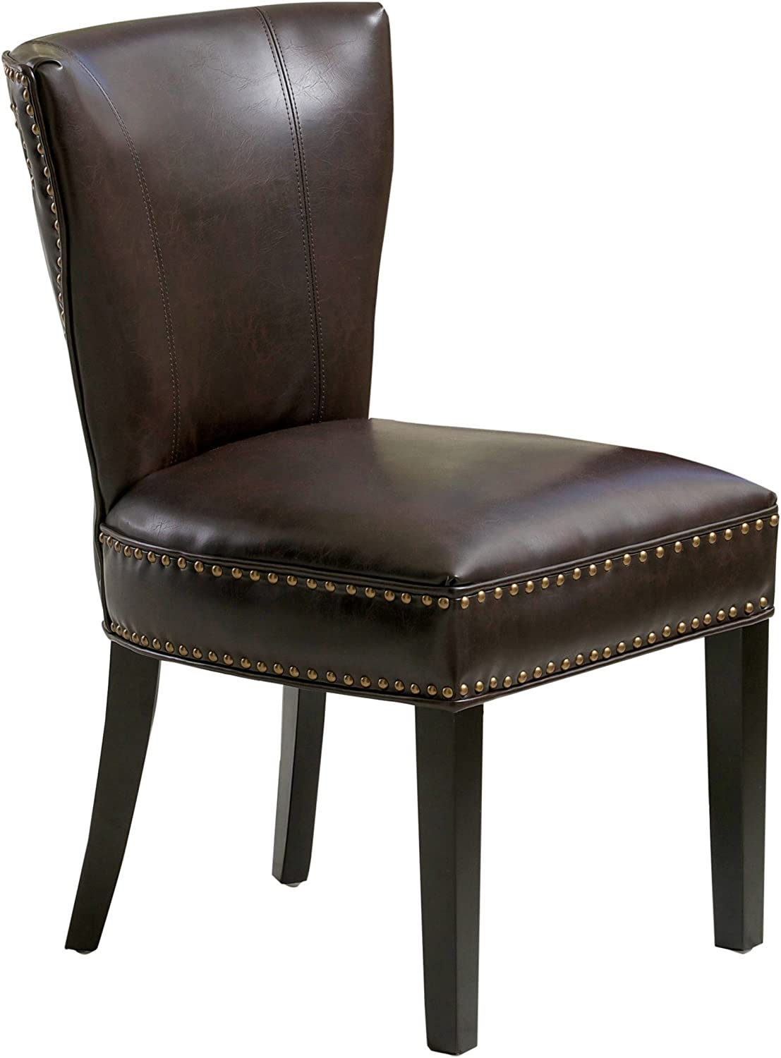 Best Selling Courier shipping free Jackie Leather San Jose Mall Dining Brown Accent Chair