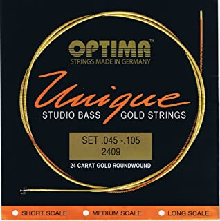Optima 24 K Gold Plated 'Unique Series' Studio Bass Strings .045 - .105