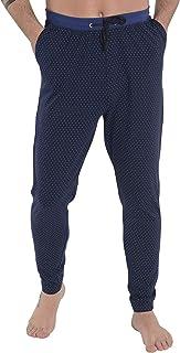 Pantalón de Pijama Suelto de Hombre Largo o Corto Pantalón Pijama Caballero de Estampado o Liso Ropa de Dormir para Hombre Punto de algodón