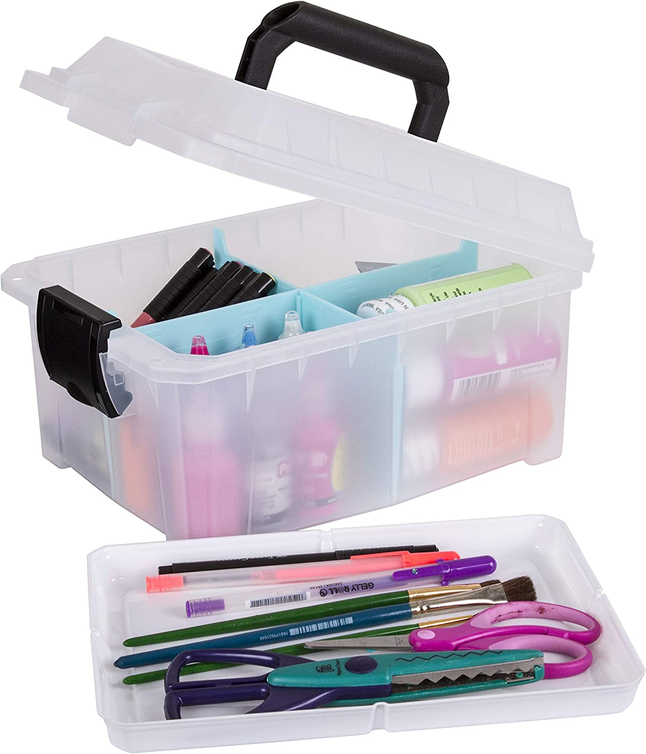 ArtBin 6817AG Sidekick Cube Carrying Ranking TOP7 Open with Lift-Out Case Tra Genuine Free Shipping