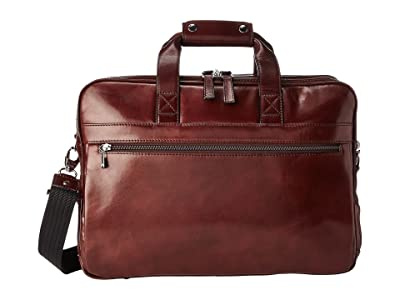 Bosca Old Leather Collection Stringer Bag (Dark Brown Leather) Briefcase Bags