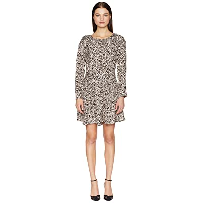 Rebecca Taylor Long Sleeve Leopard Dress (Caramel Combo) Women