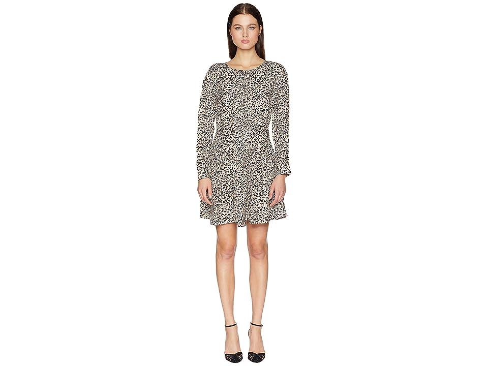 Rebecca Taylor Long Sleeve Leopard Dress (Caramel Combo) Women
