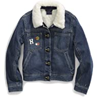 Girls' Adaptive Jean Jacket with Adjustable Closure and Fleece Collar
