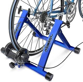 """Relaxdays Fietstrainer incl. schakeling met 6 versnellingen voor 26-28"""", tot 120 kg belastbaar, hometrainer fiets voor ind..."""