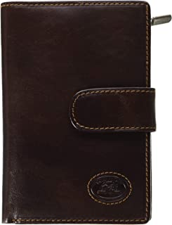 Tony Perotti Womens Italian Bull Leather Large Clutch Organizer Wallet with Zippered Coin Pocket