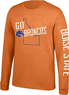 J America NCAA Men's Boise State Broncos Classic Heather Long Sleeve Tee, X-Large, Orange