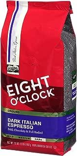 Eight O'Clock Ground Coffee, Dark Italian Espresso, 32 Ounce (Pack of 1)