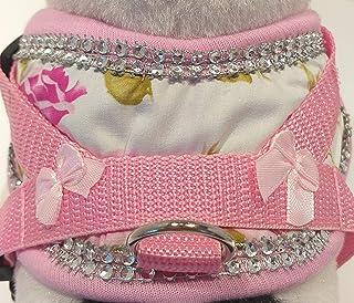 Soft vajilla pecho vajilla perros vajilla rosas patrón collar XS-m cachorros