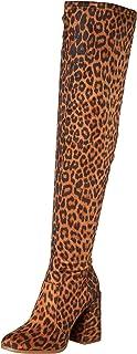 Jessica Simpson Women's Brixten حذاء برقبة فوق الركبة، طبيعي، 10