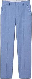 Boys' Flat Front Dress Pant, Strong Blue, 12