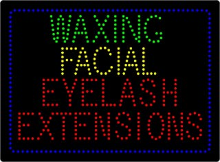LED Facial Waxing Eyelash Extension Microblading Open Light Sign Super Bright Electric Advertising Display Board for Beauty Salon Message Business Shop Store Window Bedroom 24 x 16 inches (HSW0192)