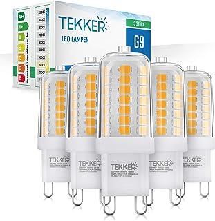 TEKKER® Premium G9 LED – 5 Stück – Leuchtmittel Warmweiss – Ersatz für 40W Halogenlampen – 3000 K – 4W – 400 Lumen – 25.00...