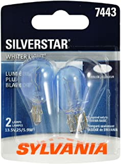 SYLVANIA 7443ST.BP2 7443 SilverStar High Performance Miniature Bulb, (Contains 2 Bulbs)
