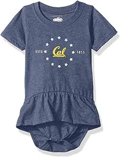 Cotton Willy NCAA Girls Short Sleeve Ruffle Onesie