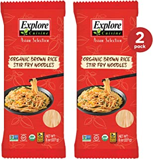 Sponsored Ad - Explore Cuisine Organic Brown Rice Stir Fry Noodles (2 Pack) - 8 oz - Easy to Make, Healthy Pasta Alternati...