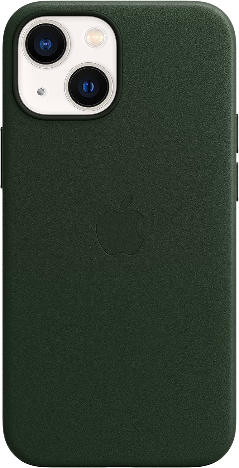 Apple Leather Case with MagSafe (for iPhone 13 Mini) - Sequoia Green