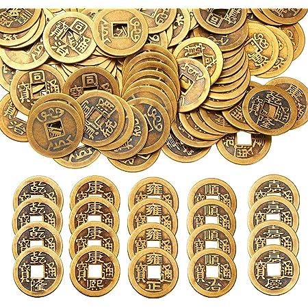 Doppel Drachen China Glücksbringer 50pcs 2,3 cm Chinesische Glücksmünzen