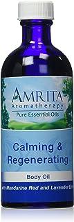 AMRITA Aromatherapy: Calming and Regenerating Massage & Body Oil With Pure and Therapeutic Grade Essential Oils of Mandari...