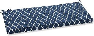 Pillow Perfect Outdoor/Indoor Garden Gate Bench Cushion, Navy