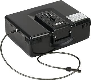 Caesar Safe Portable Electronic Digital Car Multipurpose Laptop Gun Safe CH-928, Black