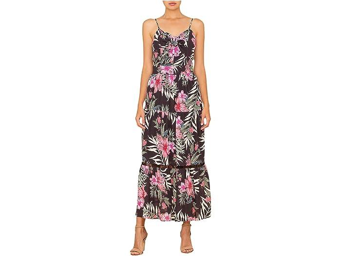 Miss Me Tropical Print Maxi Dress