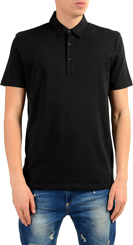 Versace Collection Men's Black Short Sleeve Polo Shirt US L IT 52