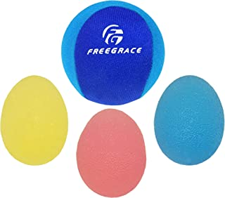 Freegrace Hand Grip Strengthening Stress Relief Squeeze Balls/Squishy Ball Bundle - Hand Exercise & Therapy Set - Great for Kids, Adults & Elders - Physical Rehabilitation
