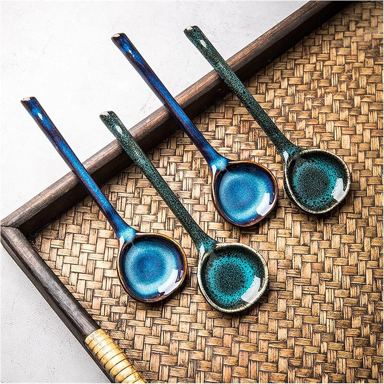 Cooking spoon Dessert Spoon Japanese retro shop ceramic San Jose Mall with lo