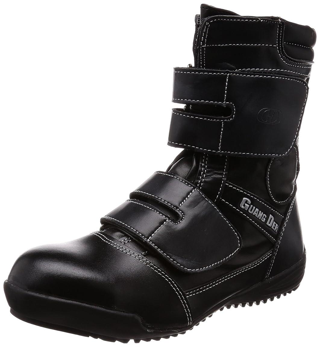 ロッドに勝るベンチャー鋼製先芯入り 高所用 作業靴 合成皮革(PU) タイプ 先芯部本革 3E GD-00 メンズ