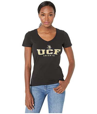 Champion College UCF Knights University V-Neck Tee (Black 3) Women
