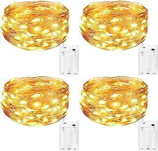 comprar comparacion Kolpop Guirnalda Luces Pilas, Luces LED Pilas4 PCS, Luces LED Habitacion 5m 50 LED Luces de Cadena Micro con Pilas de Al...