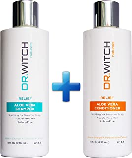 Scalp Relief, Hair Growth Shampoo & Conditioner Set. Natural Ingredients for Sensitive, Dry, Itchy Scalp. Vegan, Sulfate Free & pH balanced for Hair Regrowth, Thickening. Safe for Color Treated Hair