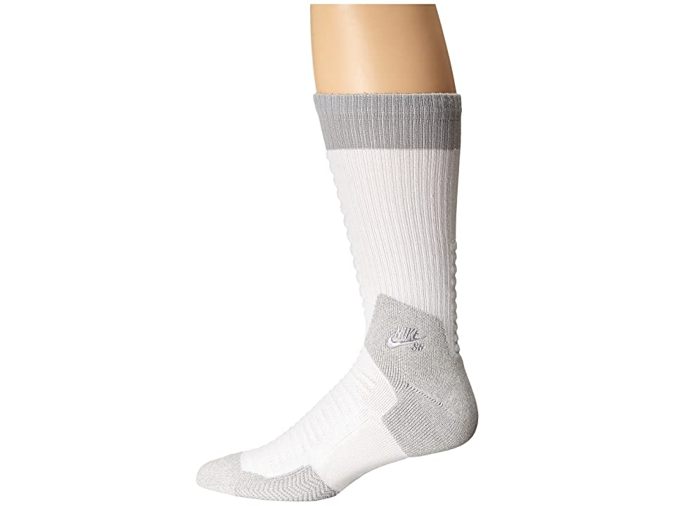 Nike Skate Crew 2.0 Sock (White/Wolf Grey/Wolf Grey) Crew Cut Socks Shoes