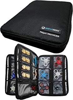 Simple Werx Fidget Spinner Case, Organizer Case, Carrying Case | Holds Over 24+ Fidgets | Spinners | Cubes | Collection | Holder | Box | Bag