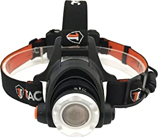 1TAC HL1200 Tactical Headlamp Flashlight with Real CREE XM-L2 LED | 1200 Lumens, 3 Modes, Rechargeable, Zoom and Waterproof | Great for Camping, Running, Hiking, Reading and More