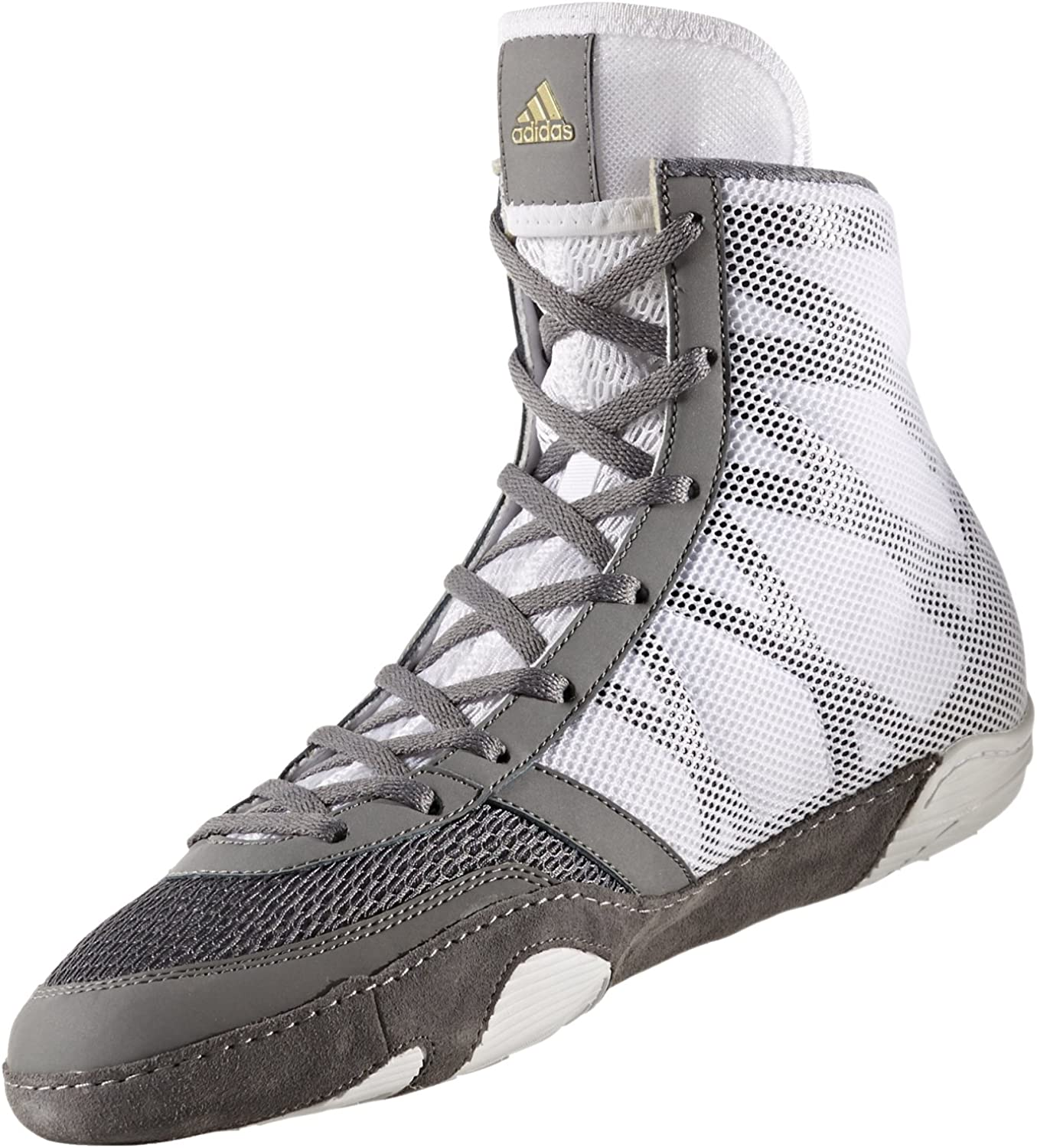 Adidas Pretereo III Men's Wrestling shoes, Grey gold White, Size 9