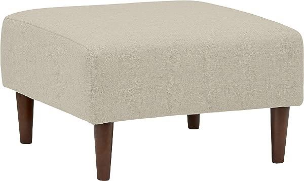 铆钉 Ava 现代软垫搁脚凳与锥形腿 25 6 W 光学灰色